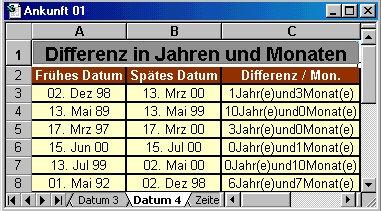 excel 2010 datum differenz